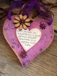 Handmade Mum You Are An Inspiration Chunky Heart